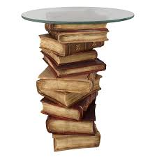Book Design Side Table Details About Design Toscano Power Of Books Sculptural Glass Topped Side Table
