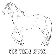 Big Time Rush Paard Naam Kleurplaat