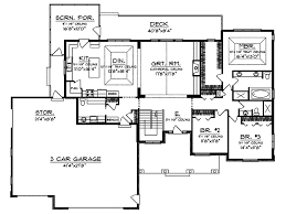 Branhill Craftsman Style Home Plan D    House Plans and MoreRanch House Plan First Floor   D    House Plans and More