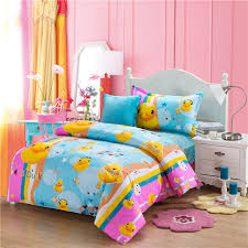 Rubber Duck comforters and quilts kids bedding set anime bed ... & Rubber Duck comforters and quilts kids bedding set anime bed sheets blue  comforter sets hello kitty bed sheets totoro bed-in Bedding Sets from Home  & Garden ... Adamdwight.com