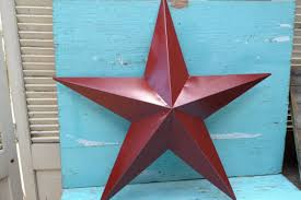 large rustic red distressed metal star wall hanger home decor red