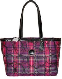 ... tartan pink plaid purse coach . tartan pink plaid purse coach . coach  waverly logo large black satchels dmr
