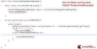 How To Design A Java Program How To Run A Program Forever In Java Keep Running Main