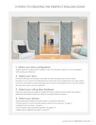 4 steps to creating the perfect rolling door 1 select your door configuration single or double door bypass double or quadruple refer to the information
