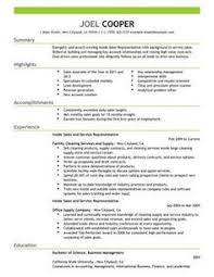 inside sales resume examples   Google Search Pinterest