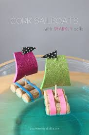 crafts for kids to make at home cork sail boats diy projects and