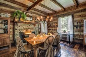 log cabin dining room ideas. log home dining rooms gentry farm cabin room left rustic best images ideas