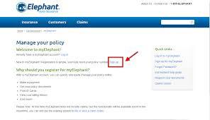 elephant auto insurance enroll step 1