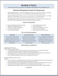 resume business plan