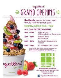yogurtland mounn grove grand opening