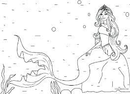 Mermaid Coloring Pages Printable Free Little Mermaid Coloring Page