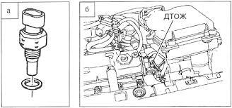 Устройство автомобиля датчики и регуляторы Курсовая работа Датчик температуры охлаждающей жидкости термисторный устанавливается на впускном патрубке системы охлаждения в потоке охлаждающей жидкости двигателя