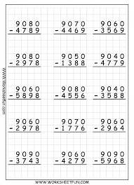 Three Digit Subtraction Worksheets : Criabooks