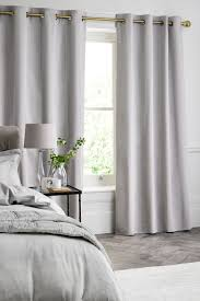 cotton waffle blackout lined eyelet curtains from the next uk