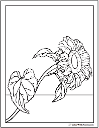 This printable sunflower coloring page is perfect for kids and adults. Sunflower Coloring Page 14 Pdf Printables