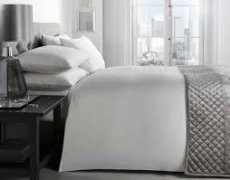 woven pencil stripe white 200 tc 100 cotton king size duvet cover