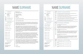 Vector Minimalist Creative Cover Letter And One Page Resume Cv