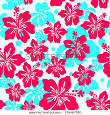 Hawaiian Pattern Adorable Seamless Pattern With Hibiscus Flower Seamless Hibiscus Flower
