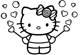 Small Picture Photos Of Hello Kitty Coloring Home