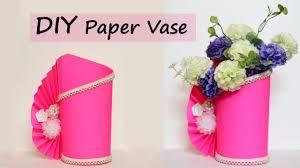 Paper Flower Base Paper Flower Vase Making Easy Paper Craft Diy Home Decor Ideas