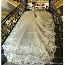 Wedding Dresses With Long Trains And Sleeves