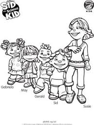 Small Picture Sid and Friends Sid the Science Kid Coloring Pages for Kids