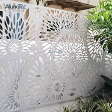 decorative aluminum panel outdoor fence
