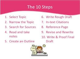 steps to writing a research a paper