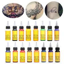 <b>Professional</b> Salon Tattoo Ink <b>16 Colors 30ml</b>/Bottle Pigment ...