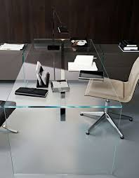 glass office table. crystal writing desk air desk 1 gallottiradice glass office table d