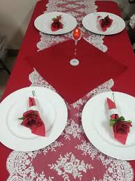 Candle Light Dinner Table Setting Valentines Day Table Setting Candle Light Dinner Holiday