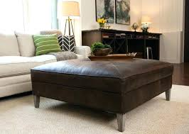 oversized leather ottoman. Perfect Leather Large Square Leather Ottoman Oversized Coffee Table  Tray   Throughout Oversized Leather Ottoman T