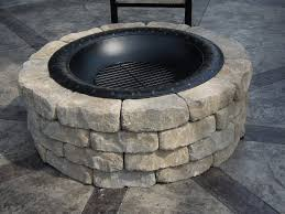 Stacked Stone Fire Pit immaculate white stone fire pit ring on cement pavers backyards as 6867 by uwakikaiketsu.us