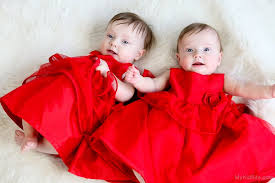 girls baby photos twins baby girls in red dress