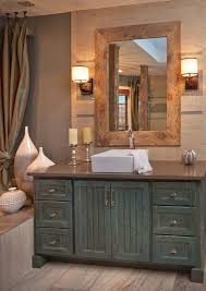 really like the rustic feel of the vanity the sink on top makes it feel modern and gives a polished look mabe master bath bathroom winsome rustic master bedroom designs