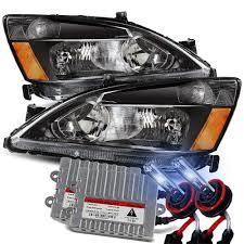 Honda Accord Fog Light Bulb Size Modifystreet 8000k Hid For 03 07 Honda Accord Black Crystal Headlights Left Right Assembly