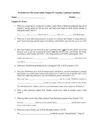 worksheets for great gatsby the great gatsby mind map activities  the great gatsby analysis essay our work