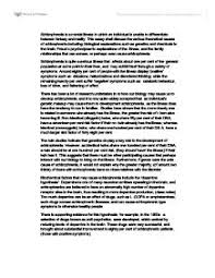 schizophrenia this essay shall discuss the various theoretical page 1 zoom in