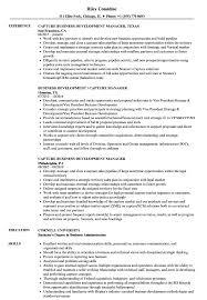 Capture Manager Sample Resume Capture Business Development Resume Samples Velvet Jobs 6