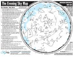 Monthly Sky Chart Night Sky Planner Night Sky Network