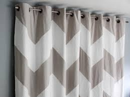 how to make no sew chevron curtains from a drop cloth