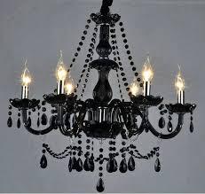 black glass chandelier lighting crystal