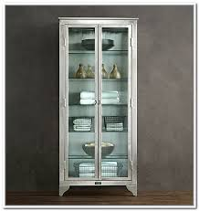 elegant glass storage cabinet with cabinets best inside doors decorations 0