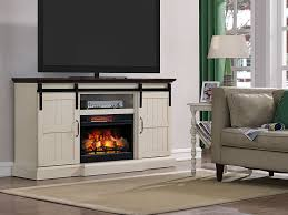 hogan electric fireplace tv stand in weathered white regarding ideas 19