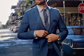 Light Grey Suit At Night How To Wear A Blue Suit Man Of Many