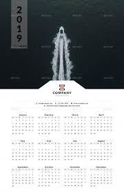 3 Page Calendar Design 2019 One Page Wall Calendar Page Calendar Wall