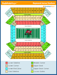Raymond James Stadium Seating Chart Outback Bowl 68 All Inclusive Raymond James Stadium Seat Chart