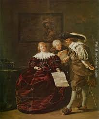 Jacob Duck The Contract A Lady Presenting A Letter To A Gentleman
