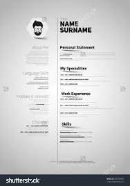 Minimalist CV, resume template with simple design, vector - buy this stock  vector on Shutterstock & find other images.