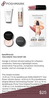 bare minerals you know you want me set this is a 500 point reward